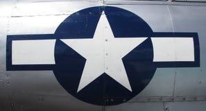 蓝色和白色星 免版税库存照片