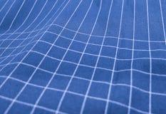 蓝色和白色格子花呢披肩织品样式背景 库存照片