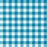 蓝色和白色桌布纹理墙纸 免版税库存图片