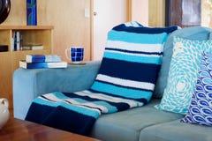 蓝色和白色海滩Deco 免版税库存照片
