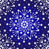 蓝色和白色点对点无缝的样式 库存照片