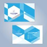 蓝色和白色现代名片模板 免版税图库摄影