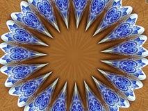 蓝色和白色锥体 免版税库存照片
