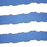 蓝色和白色水平的条纹 库存图片