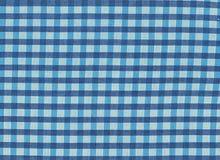 蓝色和白色vichy样式看法  免版税库存图片