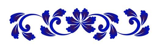 蓝色和白花元素 图库摄影