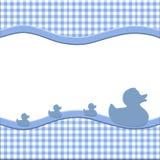 蓝色和空白婴孩框架 免版税库存照片