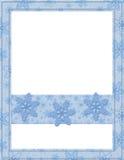 蓝色和空白雪花框架 免版税库存图片