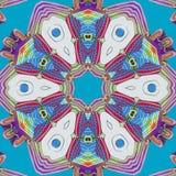 蓝色和紫罗兰色背景 抽象凹道 皇族释放例证