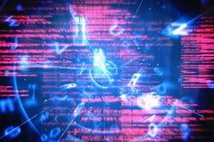 蓝色和红色技术接口 免版税库存图片