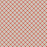 蓝色和红色格子呢检查重复墙纸模式 免版税图库摄影