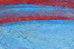 蓝色和红色油漆背景 库存图片