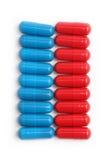 蓝色和红色药片4 免版税库存照片