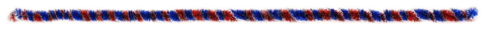蓝色和红色闪亮金属片样品真正的大小 免版税库存图片