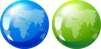 蓝色和绿土- eco能源概念 库存图片