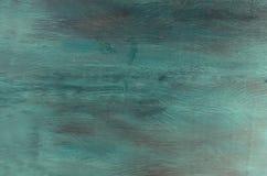 蓝色和绿松石木头纹理 免版税图库摄影