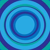 蓝色和绿色同心圆抽象背景 向量例证