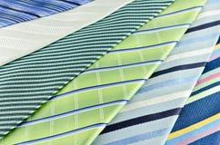 蓝色和绿色布料纹理 免版税库存照片