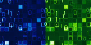 蓝色和绿色无缝它背景 免版税图库摄影