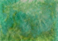 蓝色和绿色绘画背景 库存图片