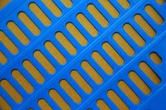 蓝色和金墙纸 免版税库存图片