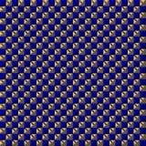 蓝色和金子色的正方形样式 免版税图库摄影