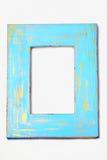 蓝色和金子被绘的困厄的框架 免版税库存照片