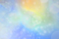 蓝色和金子Bokeh 免版税库存图片