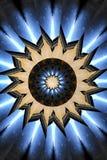蓝色和黑轮转焰火万花筒坛场垂直 图库摄影