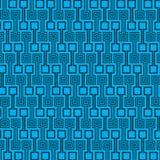 蓝色和黑颜色正方形样式例证墙纸 免版税库存图片