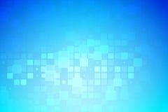 蓝色和轻的绿松石发光的各种各样的瓦片背景 库存例证