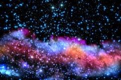 蓝色和洋红色星云 免版税图库摄影