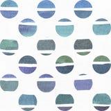 蓝色和紫色例证,冷却和根据水彩在一点圈子和白色的梯度条纹的烙记的徒手画的纹理 免版税库存图片