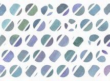 蓝色和紫色例证,冷却和根据水彩在小圈子和白色w的梯度条纹的烙记的徒手画的纹理 库存图片