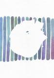 蓝色和紫色例证,冷却和根据水彩梯度条纹的烙记的徒手画的纹理并且飞溅您的t的圈子 库存图片
