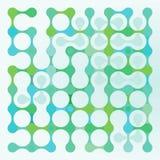 蓝色和绿色分子基因设计 库存照片