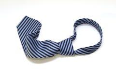 蓝色和黑色剥离了领带 库存照片