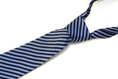蓝色和黑色剥离了领带 库存图片