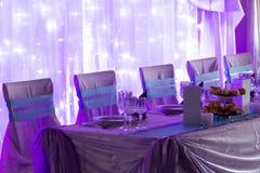 蓝色和紫色婚礼 库存图片