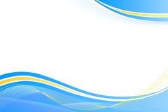 蓝色和黄色抽象背景 库存图片
