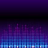 蓝色和紫色数字式调平器背景 库存照片