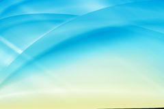 蓝色和黄色梯度背景 免版税库存图片