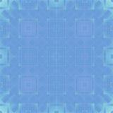 蓝色和绿色正方形-无缝的方形的样式背景 免版税图库摄影