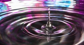 蓝色和紫色水堆 免版税库存照片