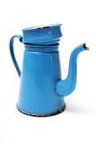 蓝色咖啡夫人罐 免版税库存图片