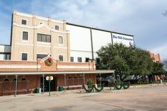 蓝色响铃乳脂制造厂工厂在Brenham,TX 免版税库存图片