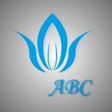 蓝色商标和象 免版税库存照片