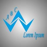 蓝色商标和象 免版税图库摄影