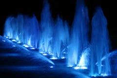 蓝色喷泉 库存照片