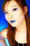蓝色嘴唇 免版税库存照片